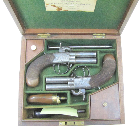 Antique Gun Room, Inc  - Details for Cased Turn-Over Percussion